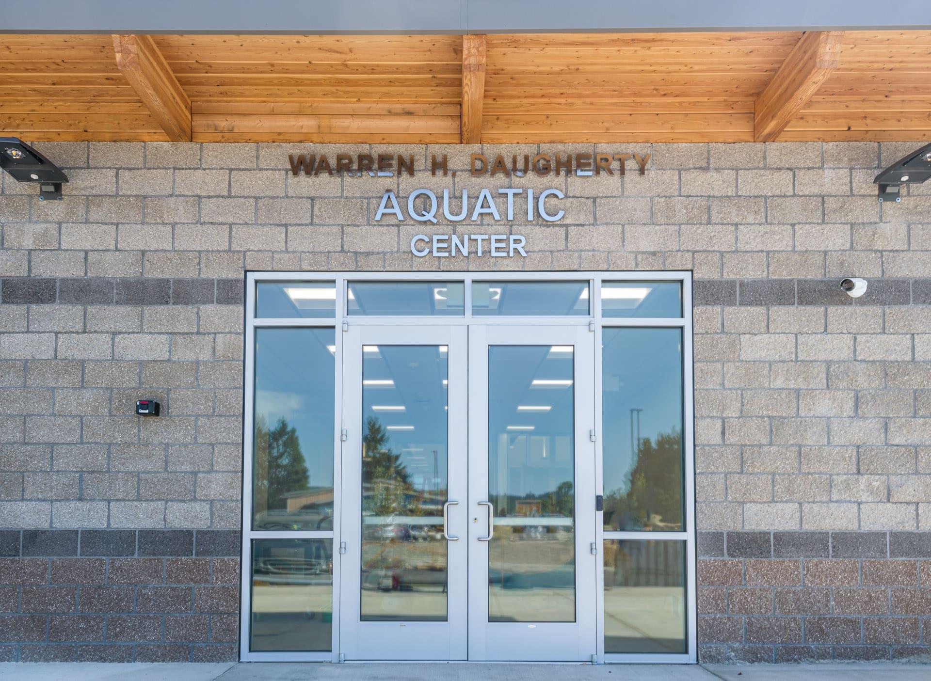 Daugherty Aquatic Center Front