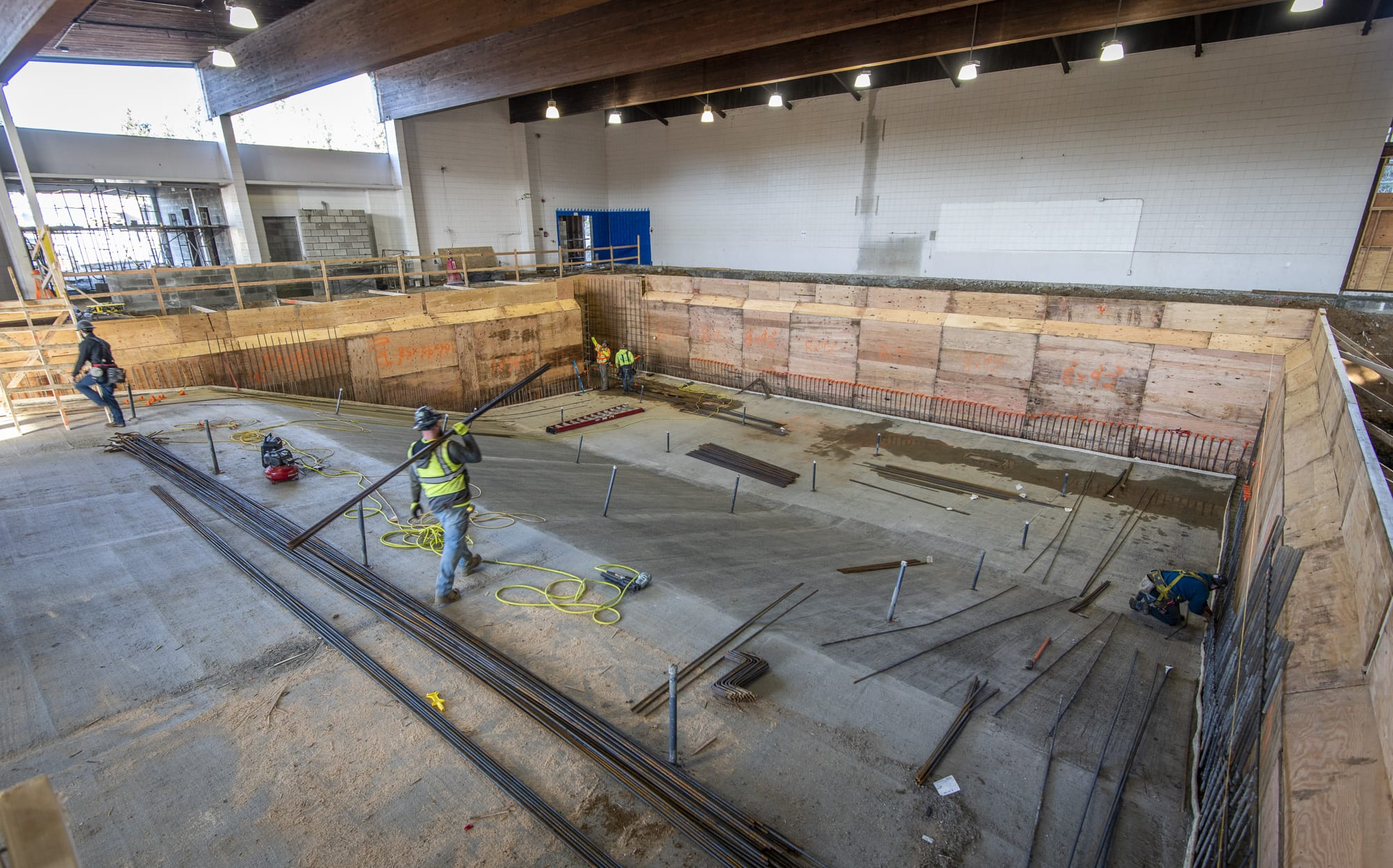 Daugherty Aquatic Center Pool Construction