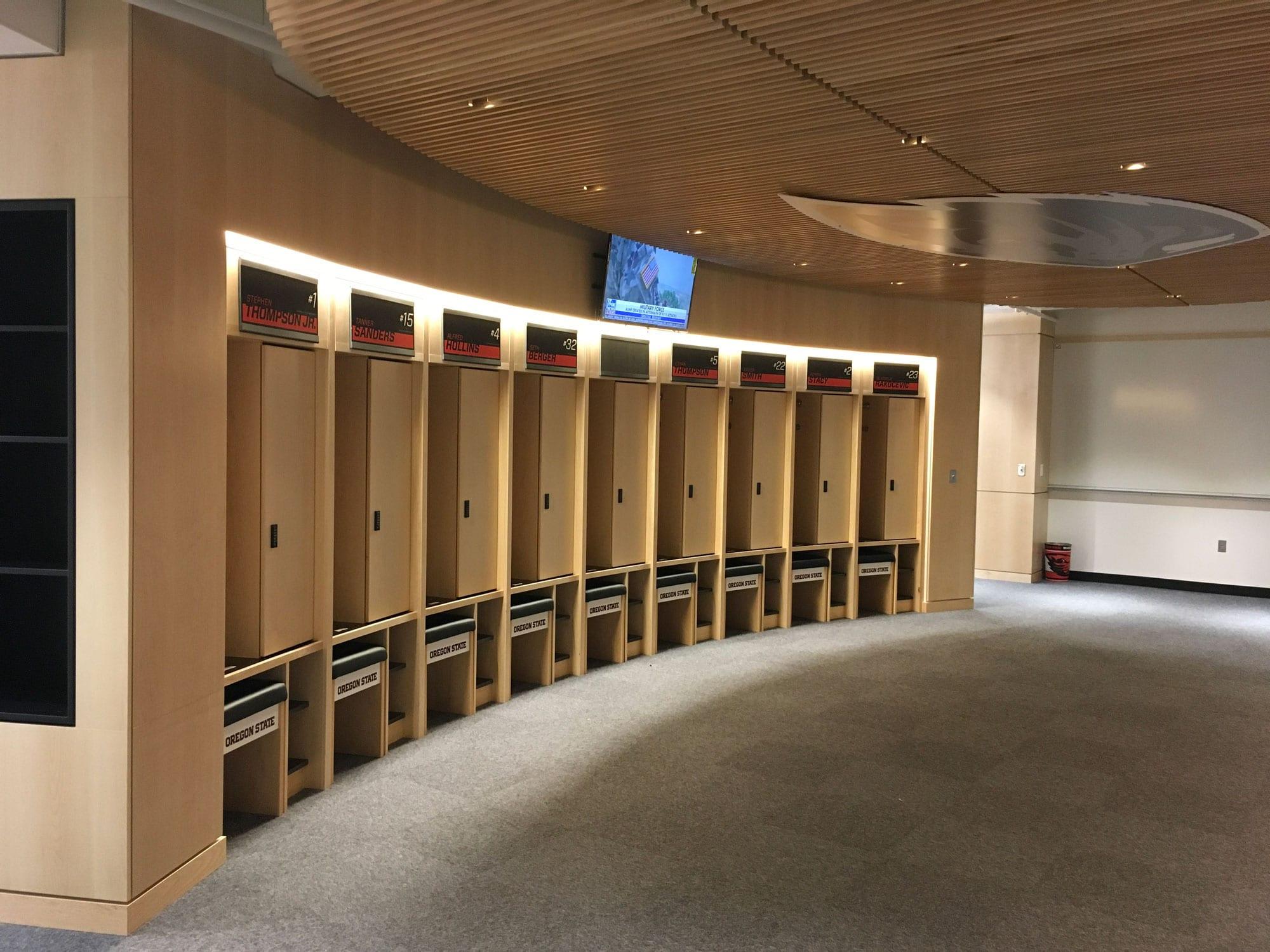 Oregon State Men's Basketball Locker Room